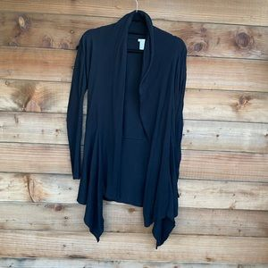 Long, flowy, open front cardigan